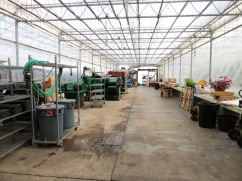 Main aisle, where we fill all our pots and do other work during the off season.